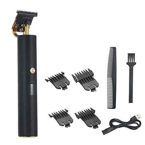 Andoer Máquina de cortar cabelo elétrica Retro Oil Head Hair Razor Recarregável Shaving Hair Trimmers Máquina de cortar cabelo para homens Cortar e aparar Carregamento USB com display digital LED