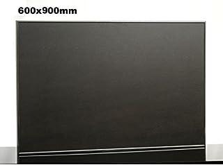Elbo therm Nero Therm Pizarra Calefactor por Infrarrojos con Marco de Aluminio y Pared 450W, Marco, Color: Plata
