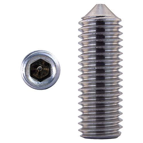 Vis sans tête M2,5 X 3 DIN 914 mucronifère Acier inoxydable A2 (20 pièce) - V2A Vis de serrage