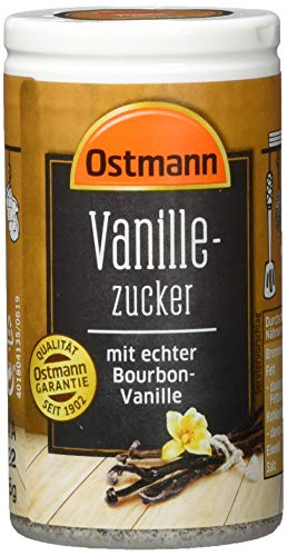 Ostmann Gewürze Vanillezucker mit echter Bourbon-Vanille, 4er Pack (4 x 45 g)