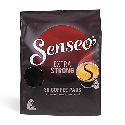 Senseo Kaffeepads Extra Dark / Extra Kräftig, Intensiver und Vollmundiger Geschmack, Kaffee, neues Design, 36 Pads