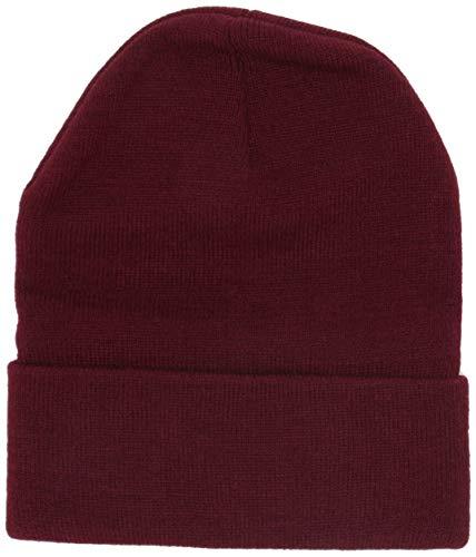 Marky G Apparel Knit Beanie with Cuff, Burgundy, OS