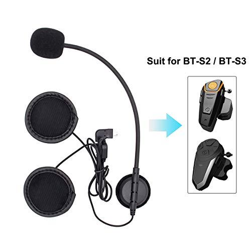 Mini USB 8-pin Mikrofon und Kopfhörer für Motorrad Headset Bluetooth Kommunikationssystem BT-S2 und BT-S3 (Mini USB 8-Pin, hartes Mikrofon)