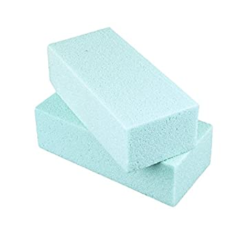 Standard Floral Dry Polystyrene Blocks Bricks Green Arts & Crafts Base Lightweight Heavy Duty for Artificial Floral Dried Arrangements Decorations  2 Pack 7.75  x 3.5   by Super Z Outlet