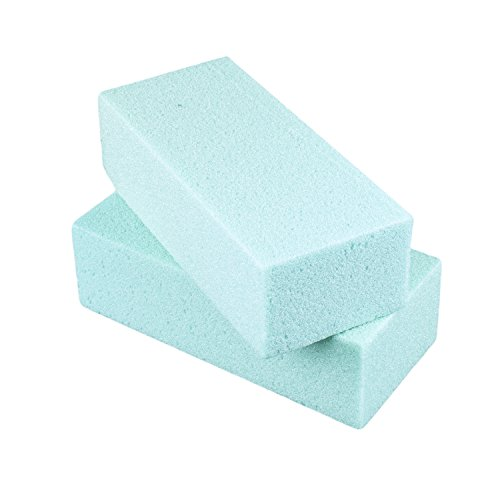 Standard Floral Dry Polystyrene Blocks Bricks Green Arts & Crafts Base Lightweight Heavy Duty for Artificial Floral Dried Arrangements Decorations (2 Pack, 7.75