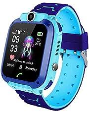 MOGOI Q12 Kids Smart Horloge Telefoon Tracker Voor Kinderen Student Jongens Meisjes Smartwatch Waterdichte 1.44 Inch Touch Glas Sport Pols Met Positie Tracker Dialer Alarm Games