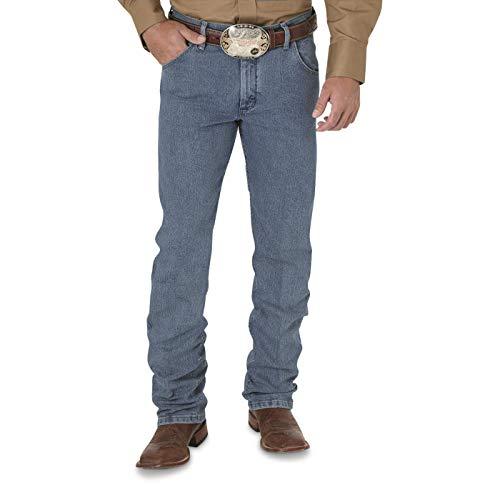 Wrangler Men's Premium Performance Cowboy Cut 5 Pocket Regular Fit Jeans, Light Stone, W36 L36