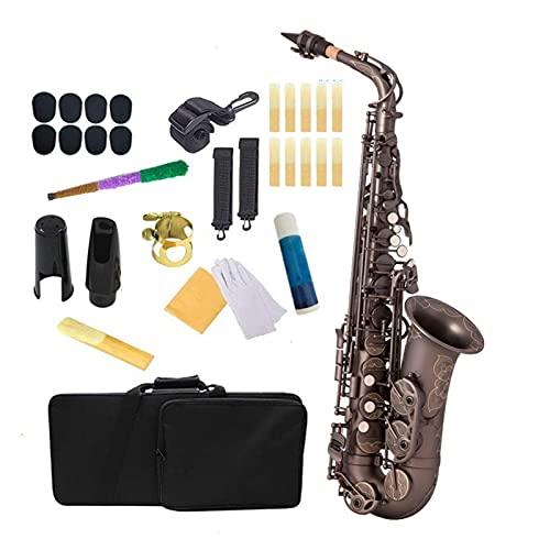 Saxofón Saxofón Alto EB Níquel Negro Latón Lacado Dorado E Flat Sax 82Z Tipo De Llave Instrumento De Viento De Madera Instrumento Viento