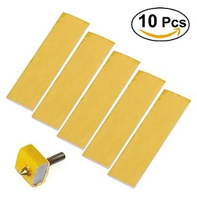 UEETEK 10pcs Heating Block Cotton for 3D Printer Hotend Nozzle Heat Insulation 3mm