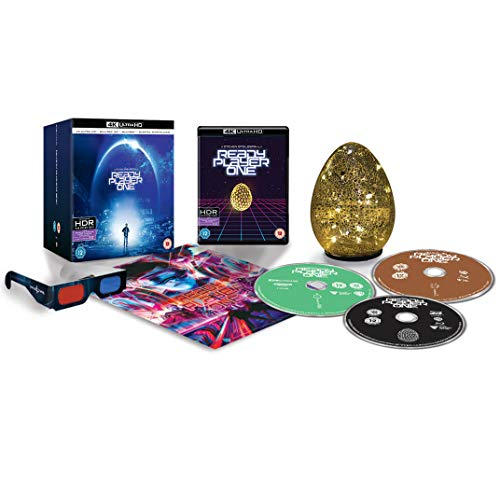 Ready Player One 4K Ultra HD Collectors Edition / Includes Light Up Golden Egg / 3D Glasses / 3D Poster / Import / Includes Region Free 2D Blu Ray