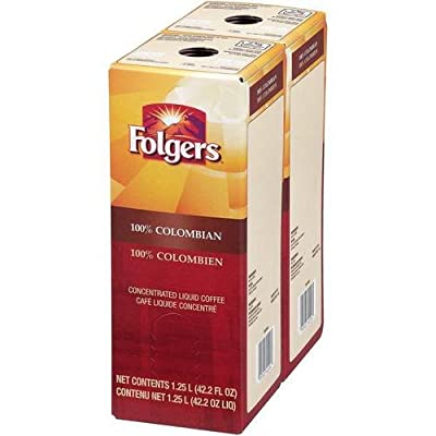 Folgers 100 Percent Colombian Coffee Liquid, 1.25 Liter - 2 per pack -- 1 each.