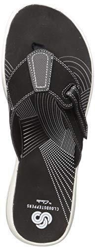 Price comparison product image CLARKS Women's Brinkley Sail Flip-Flop,  Black Synthetic,  110 M US