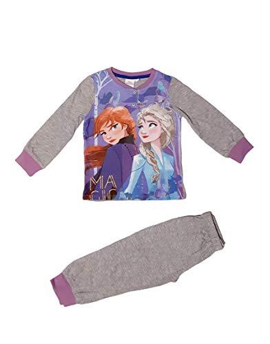 Frozen - Die Eiskönigin Pyjama (grau, 104 cm)