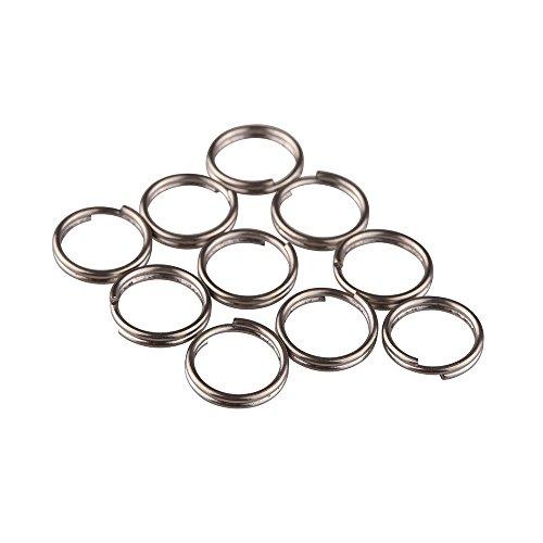 TIKING 10pcs/Lots Titanium Small Split Rings Ti Micro Split Key Ring Keychain EDC Keyring (10mm)