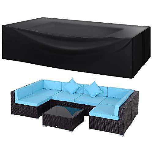 Juego de fundas seccionales para muebles de patio grandes e impermeables para exteriores, juego de fundas para sofá de dos plazas, resistentes al agua, 75 pulgadas