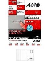 (まとめ買い) エーワン ニュースタンダードラベルA4 125面 72125 【×5】 + 画材屋ドットコム ポストカードA