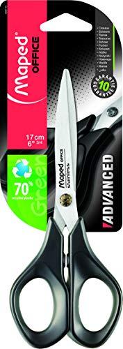 Tesoura 17cm, Maped, Advanced Green, 496110, Preto