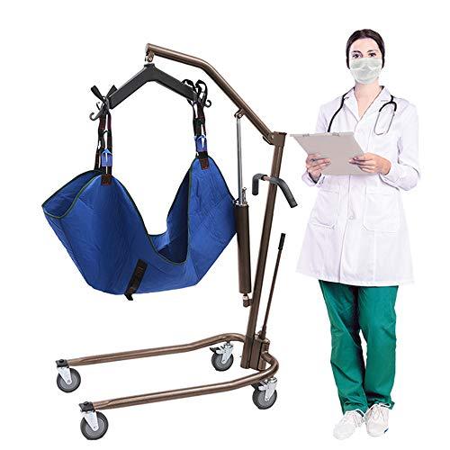 FC-Bed Grúa de Paciente portátil hidráulico - Manual de Cuerpo Completo Levantador para discapacitados, Tercera e inmóvil Pacientes - 450 lbs Capacidad