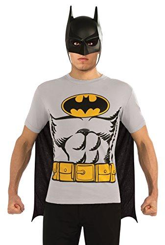 DC Comics Batman T-Shirt With Cape And Mask, Black, X-Large
