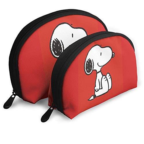 Dibujos animados simpáticos bolsas cosméticos rojos bolsa portátil neceser set de mujer bolsa de viaje con cremallera bolsa organizador 2 piezas
