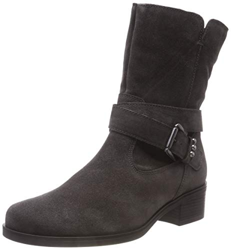 Gabor Shoes Damen Basic Hohe Stiefel, Grau (Pepper 19), 43 EU