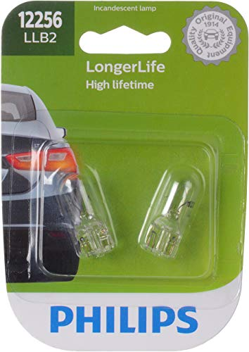 Philips 12256 LongerLife Miniature Bulb, 2 Pack