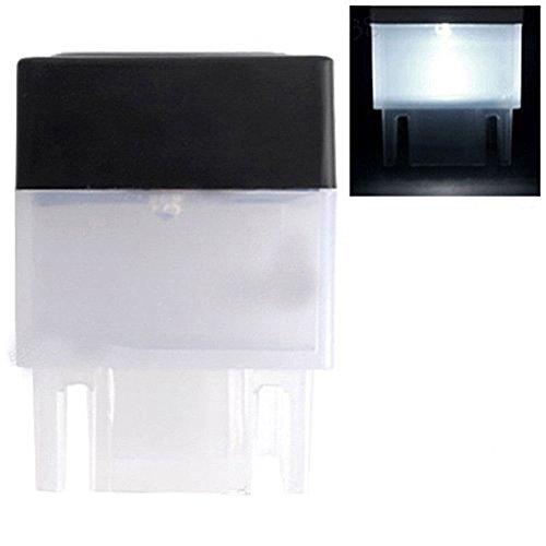 LPxdywlk Solarlampe Solarbetriebener Zaunpfosten Im Freien Pool LED LED Licht Garten wasserdichte Lampe Weiß