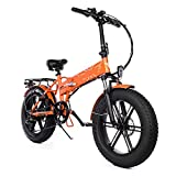 Bicicleta electrica Plegable Ligera Bicicleta eléctrica eléctrica de 750W 20 * 4.0 Pulgadas de Grasa Bicicleta eléctrica 48V 12.8Ah Bicicleta eléctrica 45km / H Mountain Bike Snow E Bike (Color : C)