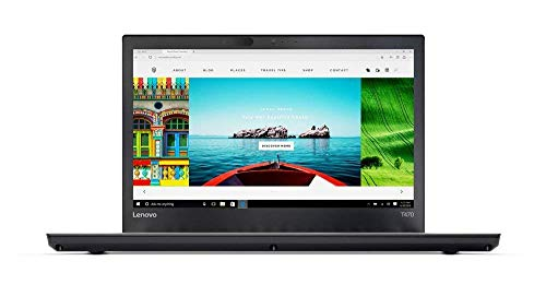 Lenovo ThinkPad T470 14-Inch Notebook - (Black) (Intel Core i5-7200U Processor, 8 GB RAM, 256 GB SDD, Intel HD 620 Graphics, Windows 10 Pro) (Certified Refurbished)
