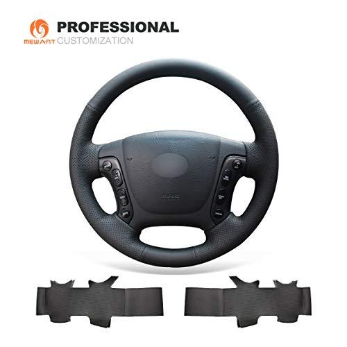 MEWANT Funda de volante de cuero para Hyundai Santa Fe 2006-2012 / H-1 (Starex) 2008-2020 / i800 2008-2019 / Santa Fe funda de volante