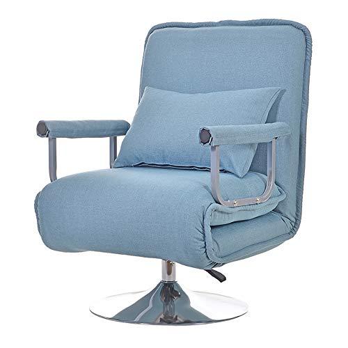 XIAMIMI 360 Grad-Schwenker Video Rocker Gaming Chair einstellbare Winkel Stuhl Klappboden Stuhl-Wohnzimmer-Möbel Ergonomisches Design,Blau