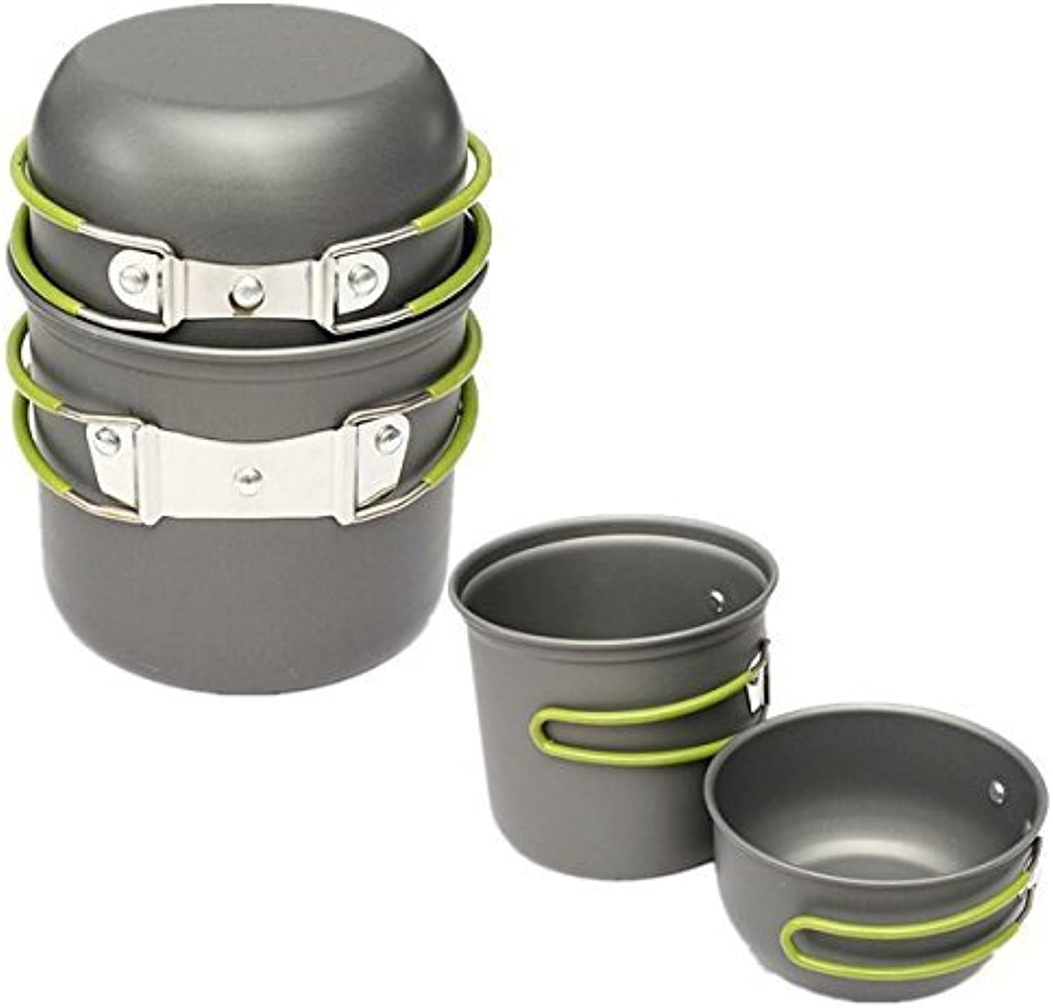 2 Pcs Outdoor Camping Picnic Cookware Cook Pot Bowl