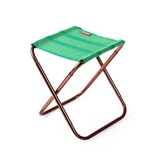 amorar portable Voyage Chaises, Outdoor Siège Chaise pliante légère pour le camping, la randonnée, pêche, plage, Adulte (unisexe), vert