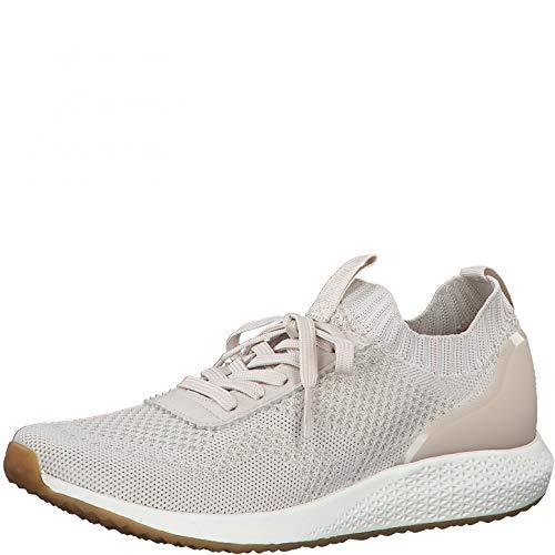 Tamaris DAMES Sneakers, Vrouwen Laag,verwisselbaar voetbed,straatschoen,sneaker,casual schoen,wedge heels,lage schoen,SAND LT.GOLD,39 EU / 5.5 UK
