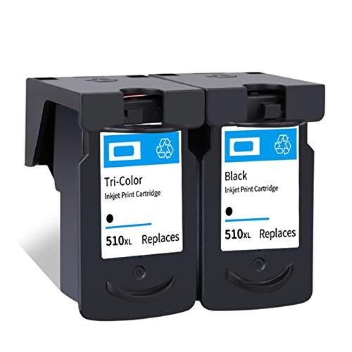 Cartucho de tinta PG510XL CL511XL, Reemplazo para Canon Pixma IP2700 2702 MP250 240 250 MP280 MP480 MX320 330 340 350 Cartuchos Negros y Tri-Color black and black