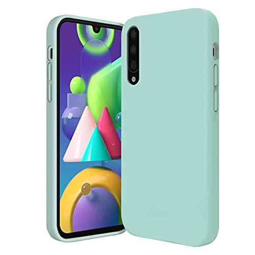 Jancyu kompatibel mit Xiaomi Mi9 Hülle Xiaomi Mi9 SE Hülle Silikon Handyhülle Ultra dünn Flüssiges Stoßfest Handy Backcover Anti-Scratch Anti-Rutsch Schutz Hülle (Blau, Xiaomi Mi 9)