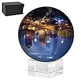 TIMESETL Bola de Cristal con Base para fotografía Ø 60MM - Bola de Vidrio K9 transparente para meditación, adivinación, Decoración Oficina, accesorio de foto
