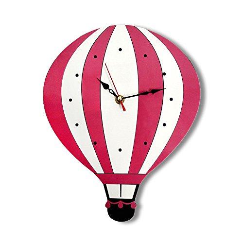 Exclusky Wanduhr Kreative Acryl Uhr Dekoration Wand geformt Heißluftballon/Eule Dekor Geschenk Zimmer Kinder Studenten Wohnzimmer Zimmer Haus Ohne Batterie (Typ A)