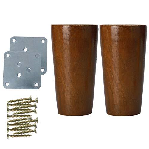 Nuevo 4 X Bollo de madera Patas para muebles//piernas para sofá silla etc.. M8