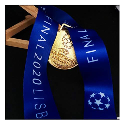 LGFB 2020 Bayern München UEFA für Champions League-Medaille Fußball-Meister Goldmedaille Fan Erinnerungsstücke Metall Replik Anti-Korrosions-und kein Ausbleichen mit blauem Band und Box