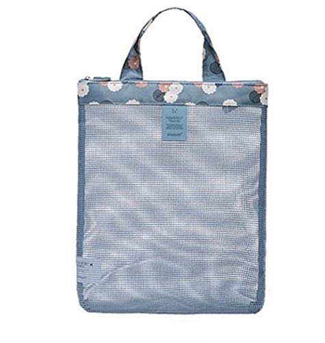 Gym Bag Mesh Tote Bag Duty Lichtgewicht Opvouwbare Handy Pouch voor Sport Beach Zwembad Familie Picnic Shopping (Random Color)