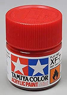 Tamiya 81707 - Pintura Acrílica Mini, Mate Rojo Frasco de 10 ml, XF-7