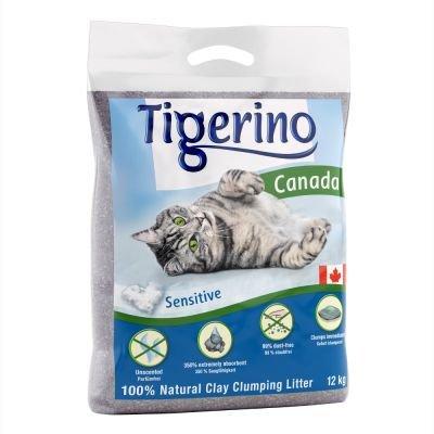 Tigerino Canada - Lettiera per gatti sensibile, confezione doppia, 2 x 12 kg