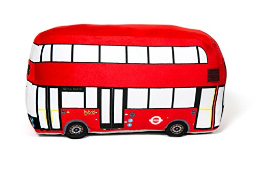 Red London Bus Double-Decker Routemaster 3D Plush Toy Cushion