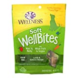 Wellness WellBites Grain-Free Lamb & Salmon Recipe Soft & Chewy Dog Treats, 6 Ounce Bag