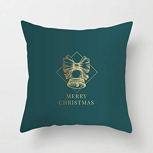 JIAORLEI With Pillow & Cushion Innerchristmas Pillow Cushion Covers Nordic Style Christmas Simple Blue Green White Throw Pillow Cover Decorative Christmas Decor-45X45Cm