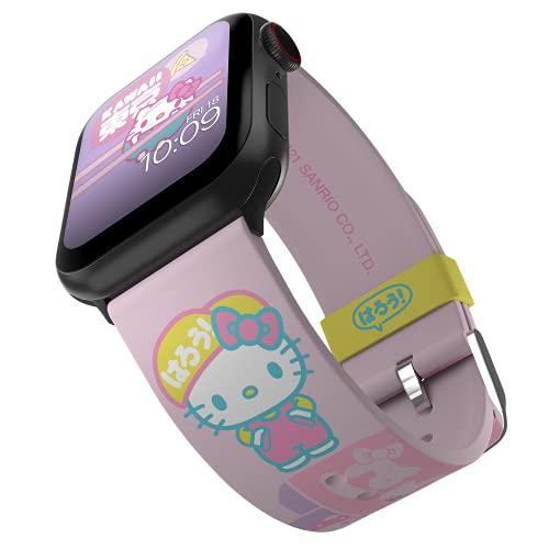 Sanrio - Banda inteligente Hello Kitty & Friends Kawaii Adventures - Licencia oficial, compatible con Apple Watch (no incluido) - Se adapta a 38 mm, 40 mm, 42 mm y 44 mm
