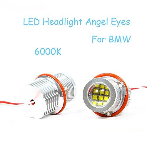 Boomboost 2pcs / Pair Super Lumineux 60W LED Phare Angel Eyes Bulb Maker