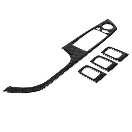 KSTE Carbon-Faser-LHD-Auto-Fenster-Lift-Schalter Button Panel Rahmenabdeckung Trim Aufkleber for BMW E90 (B)