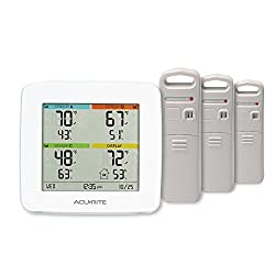 AcuRite 01094M Temperature & Humidity Station with 3 Indoor/Outdoor Sensors